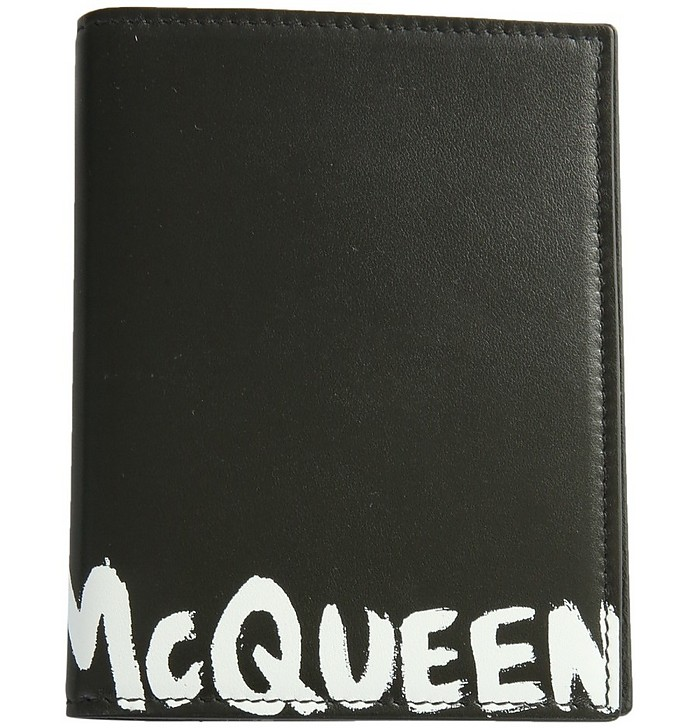 Passport Holder With Graffiti Logo - Alexander McQueen