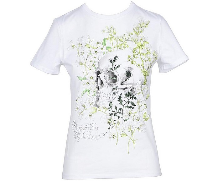 Women's White T-Shirt - Alexander McQueen / アレキサンダーマックイーン