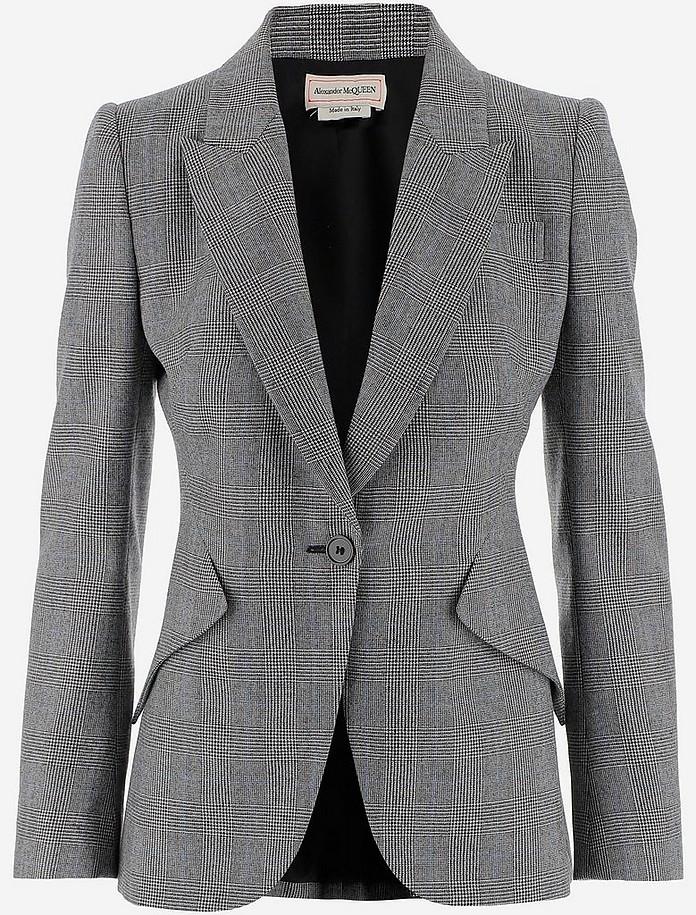 Wool And Cashmere Women's Blazer - Alexander McQueen