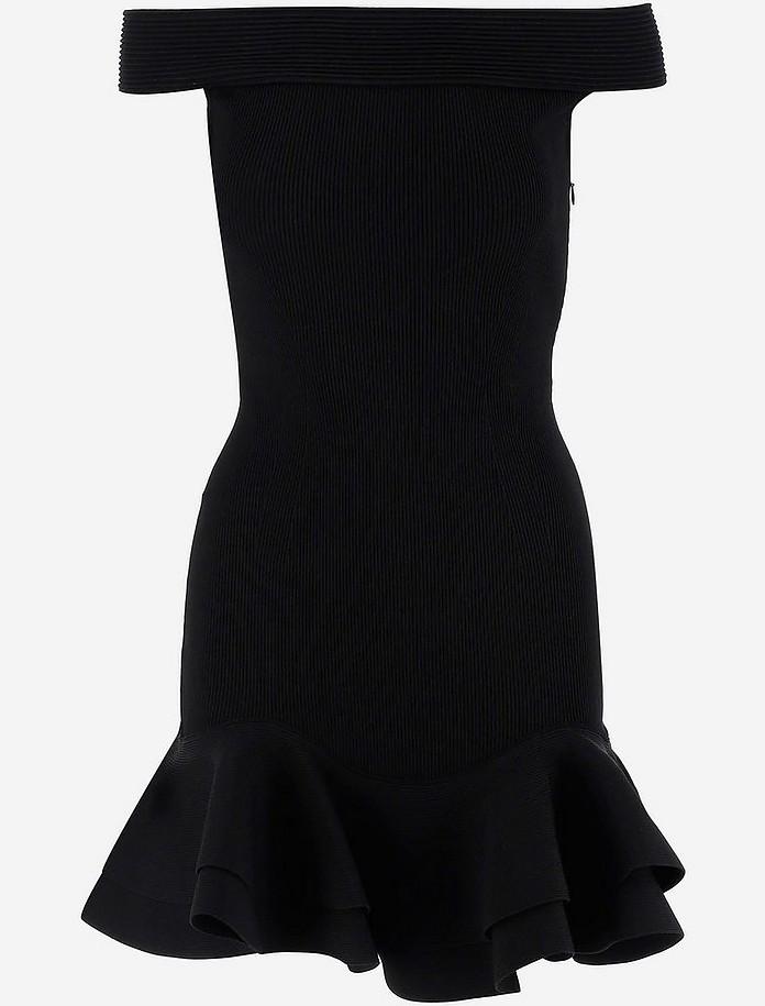 Black Stretch Viscose Women's Dress - Alexander McQueen