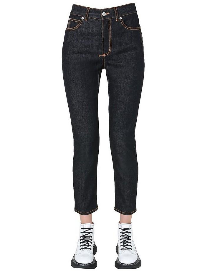High Waist Jeans - Alexander McQueen