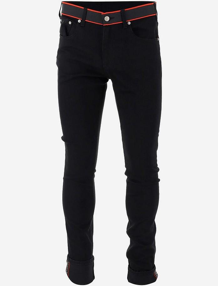 Black Stretch Cotton Denim Men's Jeans - Alexander McQueen / アレキサンダーマックイーン