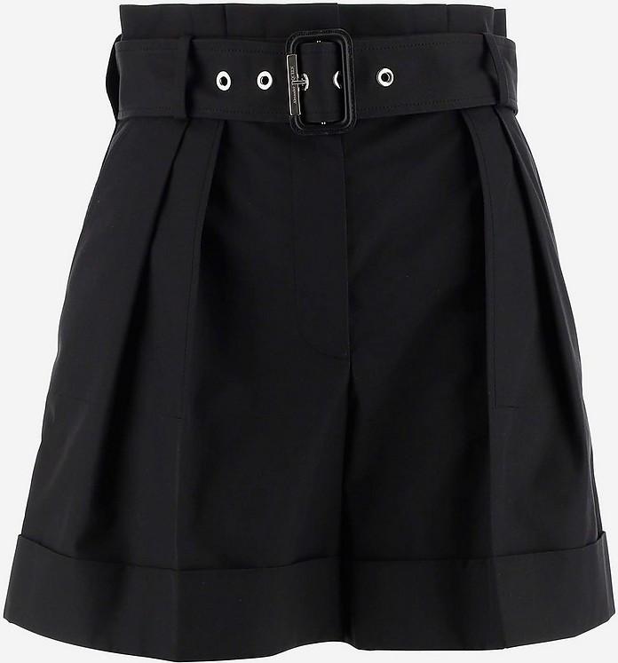 Black High-waisted Women's Shorts - Alexander McQueen 亚历山大·麦昆