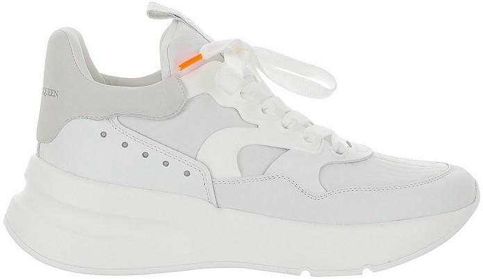 White Mid Top Men's Runner Sneakers - Alexander McQueen