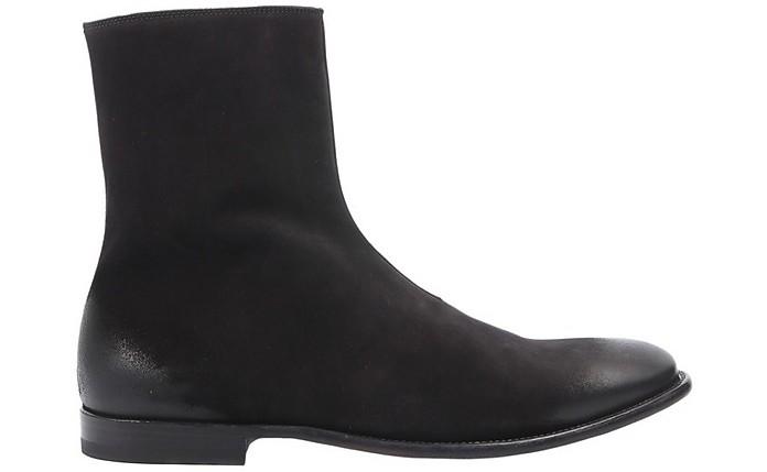 Black Brushed Leather Men's Boots - Alexander McQueen
