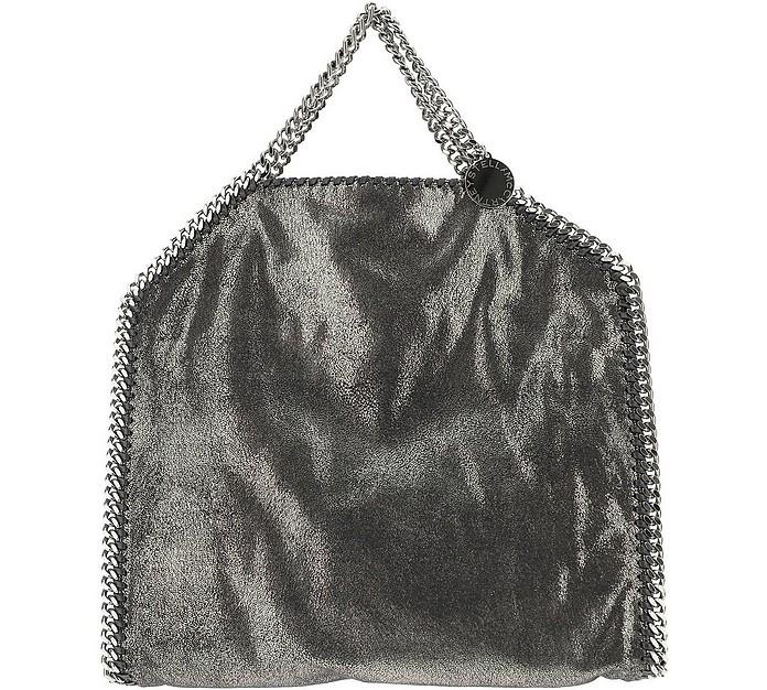 Metallic Black Falabella Tote Bag - Stella McCartney