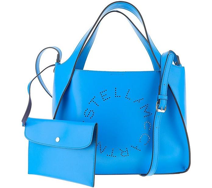 Electric Blue Stella Logo Tote Bag - Stella McCartney