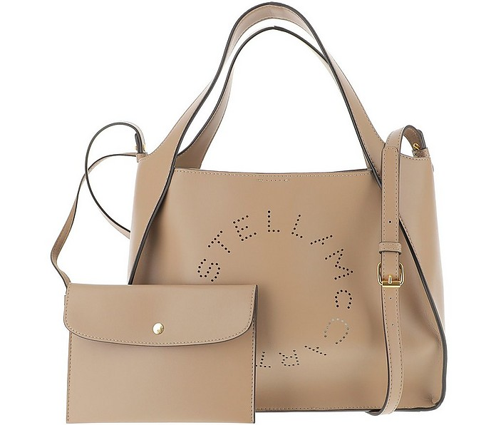 Beige Stella Logo Tote Bag - Stella McCartney