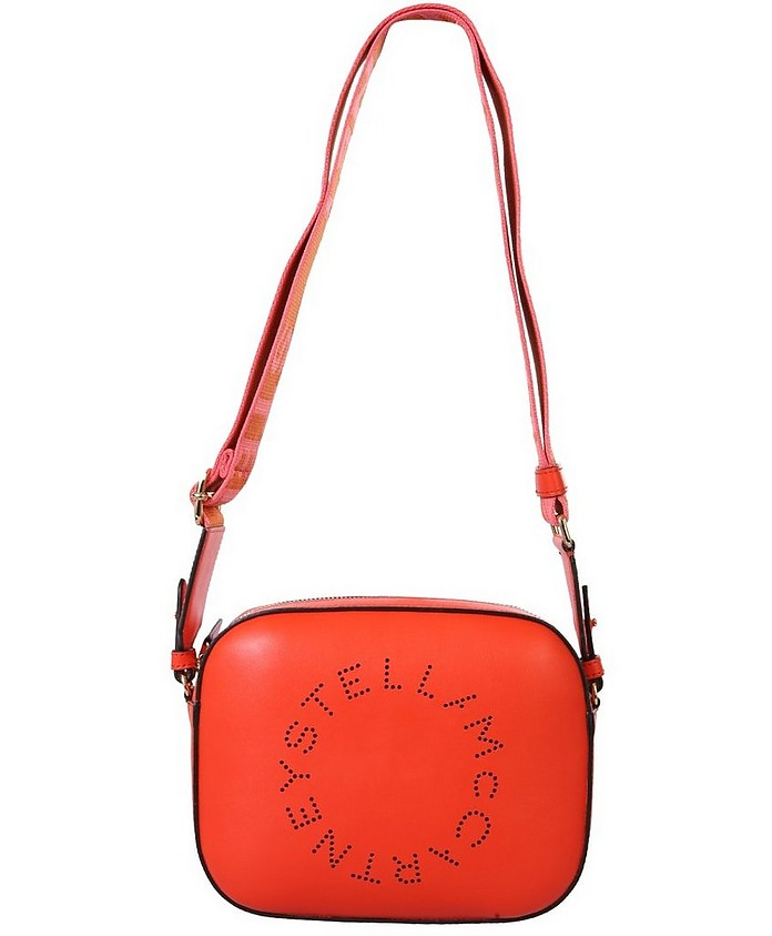 Red Stella Logo Mini Camera Bag - Stella McCartney