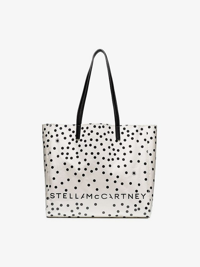 White Small Spotty Tote Bag - Stella McCartney