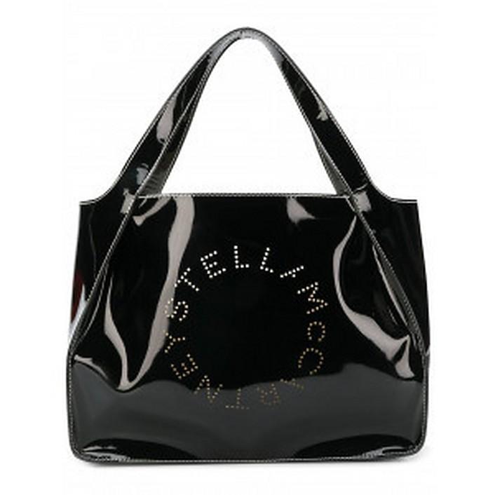 Black Patent leather Stella Tote Bag - Stella McCartney