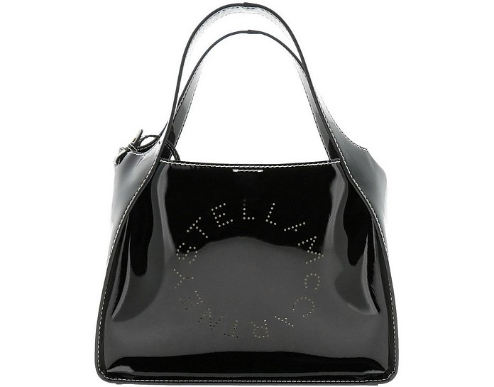 Black Stella Logo Tote bag - Stella McCartney