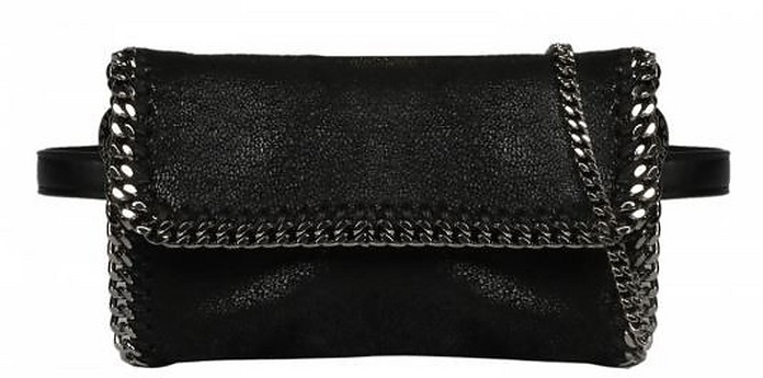 Black Canvas Falabella Convertible Belt Bag - Stella McCartney