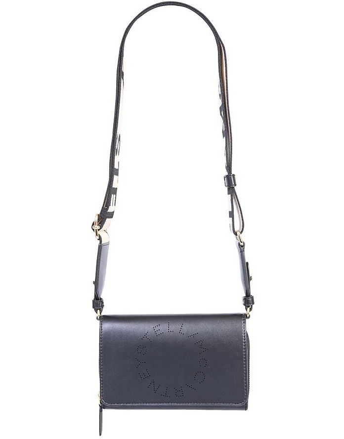 Wallet With Shoulder Strap And Logo - Stella McCartney