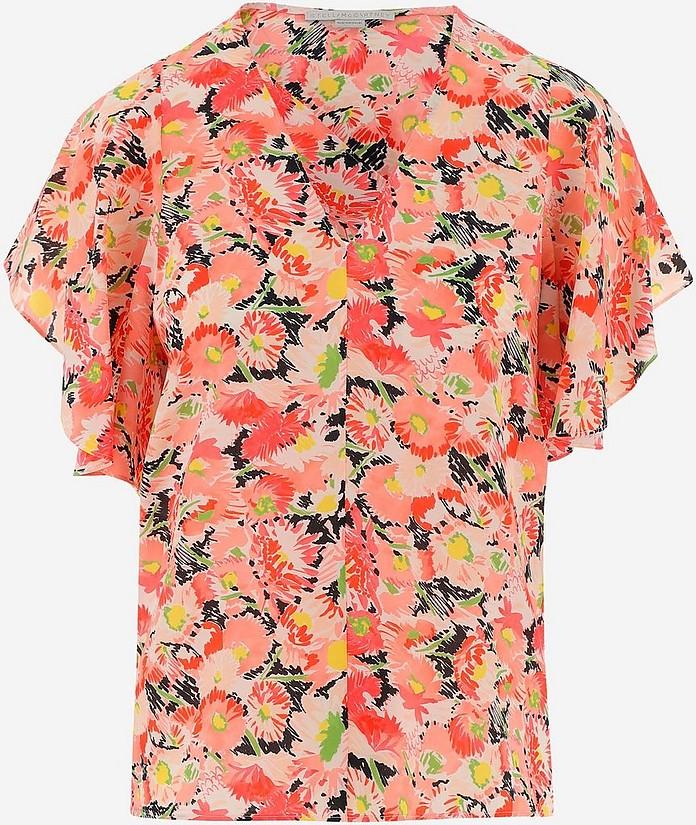 Floral Print Silk Women's Blouse - Stella McCartney