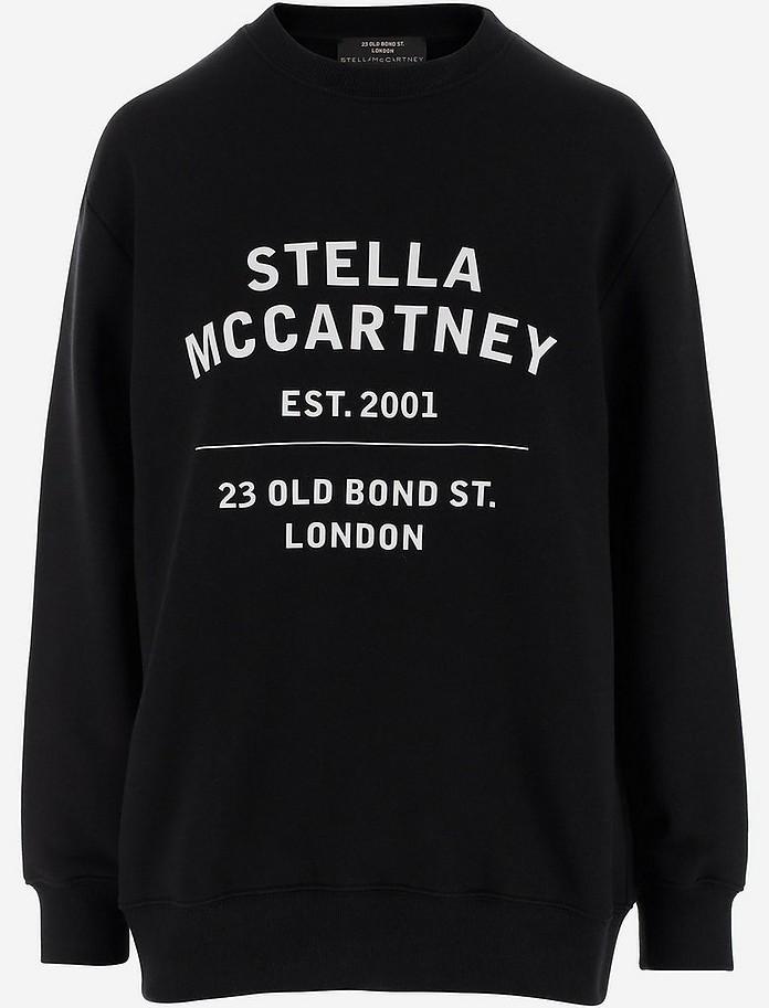 Black Organic Cotton Women's Long Sweatshirt - Stella McCartney