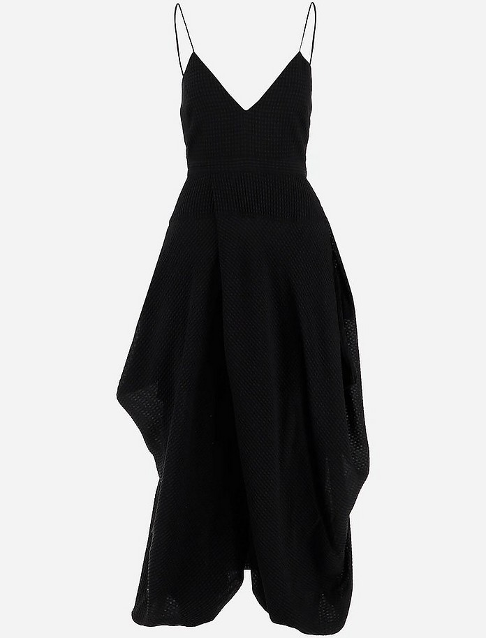 Black Pure Cotton Women's Midi Dress - Stella McCartney
