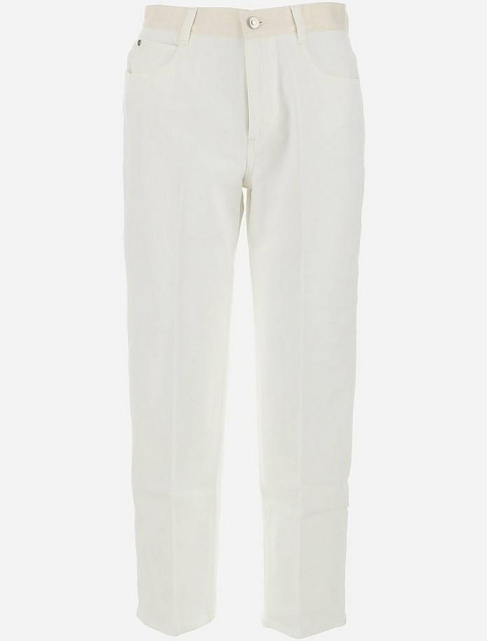 White Cotton Denim Women's Jeans - Stella McCartney