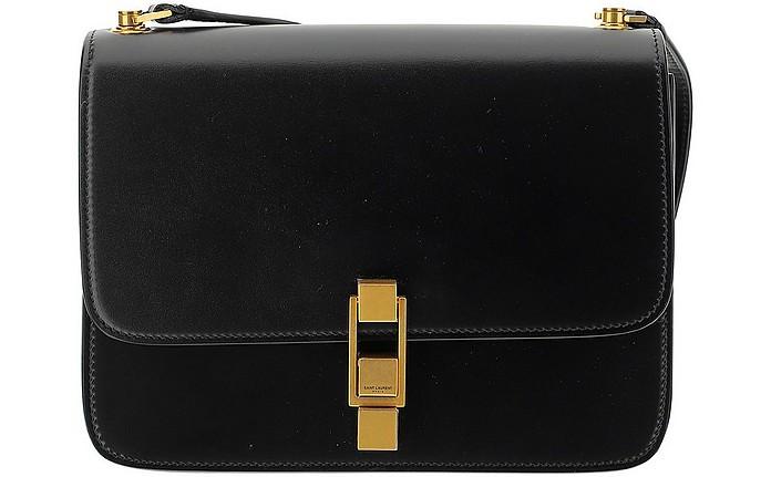 Black Leather Satchel Bag - Saint Laurent