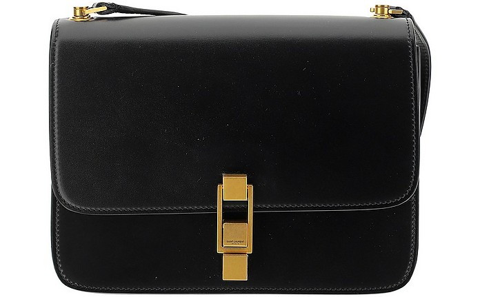 Black Leather Satchel Bag - Saint Laurent / サンローラン