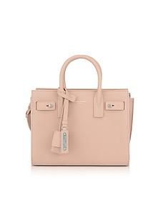 Classic Pale Pink Grained Leather Nano Sac De Jour - Saint Laurent