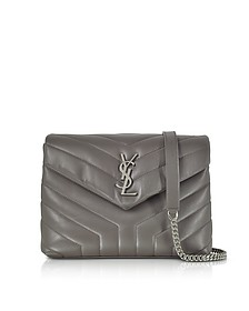 Small Loulou Earth Quilted Leather Monogram Chain Shouler Bag - Saint Laurent