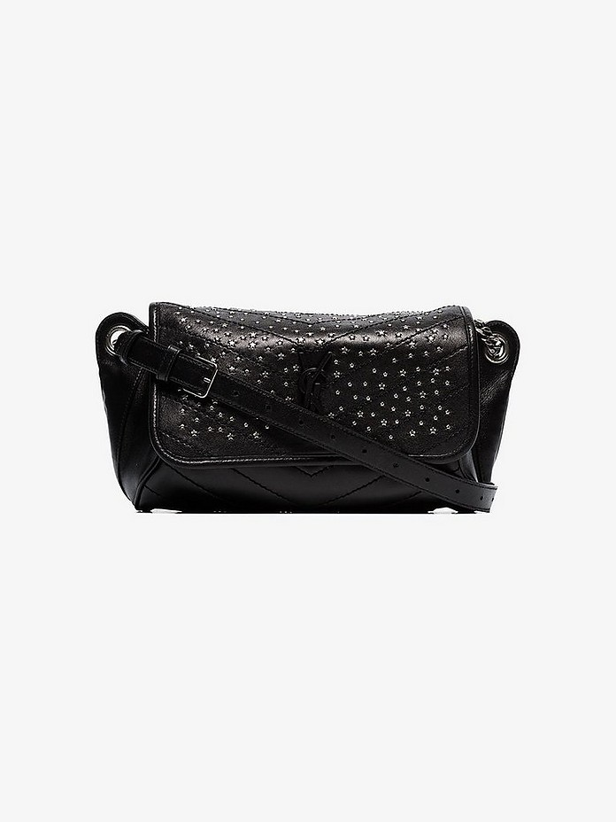Saint Laurent Crossbody Black niki studded leather cross body bag
