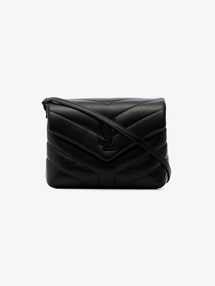 Saint Laurent Crossbody Black Toy Loulou Quilted Cross Body Bag