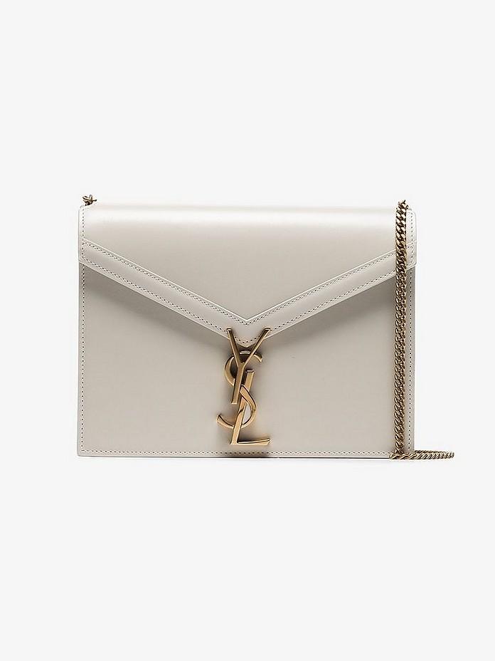 Saint Laurent Shoulder Beige cassandra chain leather shoulder bag