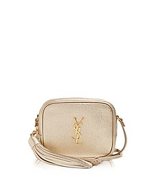 Gold Leather Blogger Shoulder Bag - Saint Laurent