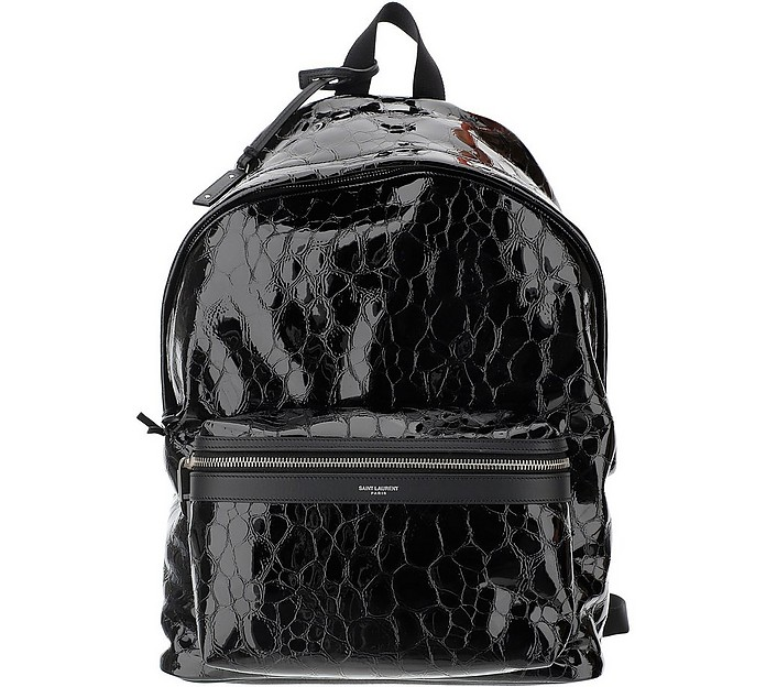 Croco Embossed Leather Backpack - Saint Laurent / サンローラン