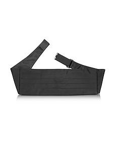 Black Pleated Silk Cummerbund