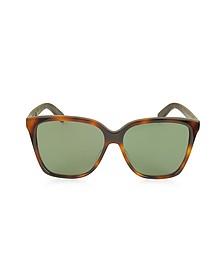 SL 175 Large Square-Frame Acetate Women's Sunglasses - Saint Laurent