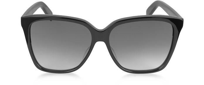 9fb4d0e305f Saint Laurent Black Gradient Black SL 175 Large Square-Frame Acetate ...