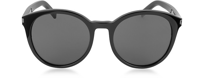 Classic 6 Acetate Round-Frame Women's Sunglasses - Saint Laurent
