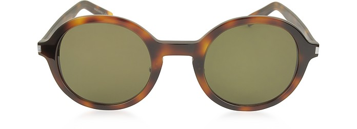 SL 161 Slim Acetate Round-Frame Unisex Sunglasses - Saint Laurent