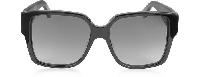 SL M9 002 Large Black Square-Frame Acetate Unisex Sunglasses - Saint Laurent