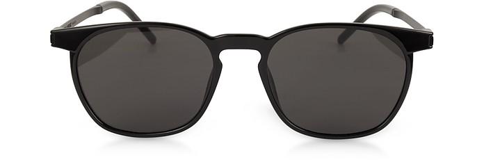 SL 240 Acetate and Metal Squared Men's Sunglasses - Yves Saint Laurent