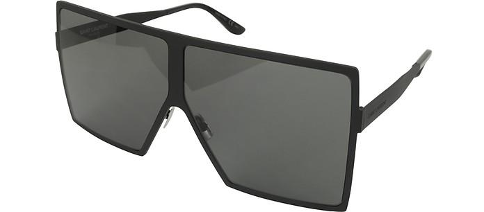 bd1bae013d Saint Laurent Black Gray New Wave 182 Matte Black Metal Betty Sunglasses at  FORZIERI Canada