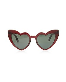 SL 181 Louluo Heart Acetate Women's Sunglasses - Saint Laurent