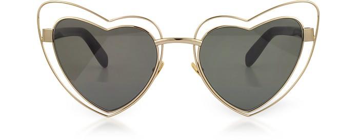 SL 197 Louluo Heart Metal Women's Sunglasses - Saint Laurent