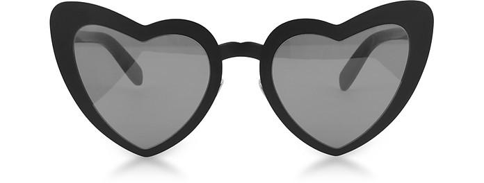SL 196 Loulou Heart Metal Frame Sunglasses - Saint Laurent