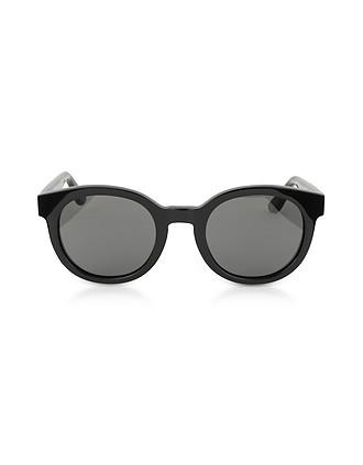 58d1b21413d SL M15 001 Round Frame Acetate Sunglasses - Saint Laurent