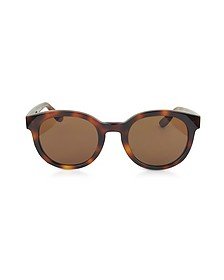 SL M15 001 Round Frame Acetate Sunglasses - MM6 Maison Martin Margiela