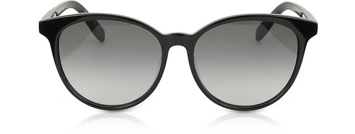 SL204 K Acetate Oval Frame Women Sunglasses - Saint Laurent