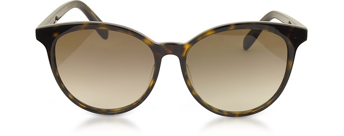 SL204 K Acetate Oval Frame Women Sunglasses - Saint Laurent