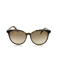 SL204 K Acetate Ovale Frame Women Sunglasses - Saint Laurent