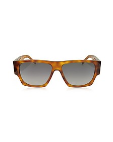 SL M17 Rectangle Frame Acetate Men's Sunglasses - Saint Laurent