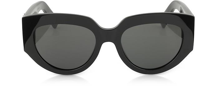 SL M26 ROPE Black Acetate Square Cat-Eye Frame Sunglasses - Saint Laurent