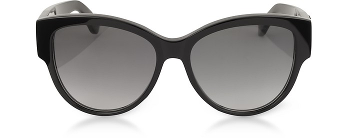SL M3 Round Black Acetate Frame Women's Sunglasses - Saint Laurent